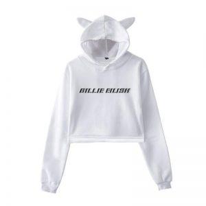 Billie Eilish Cropped Hoodie #5