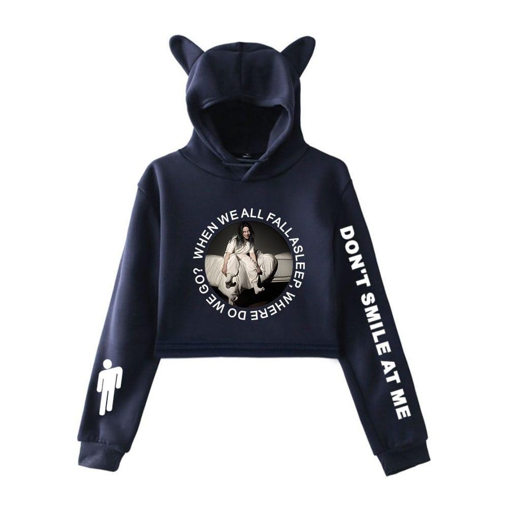 billie eilish cropped hoodie