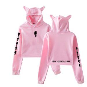 Billie Eilish Cropped Hoodie #3