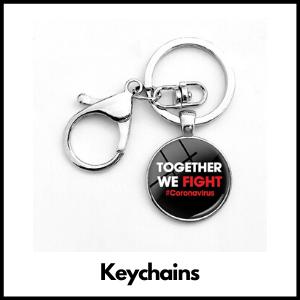 the coronavirus keychains